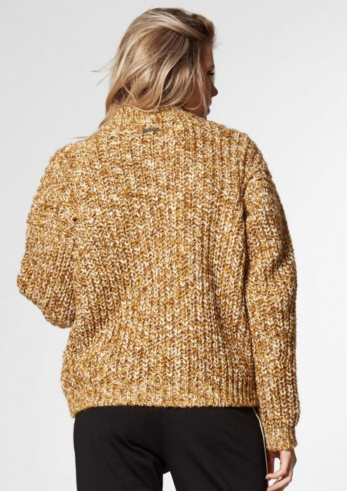 Fleur Knit Dark Honey