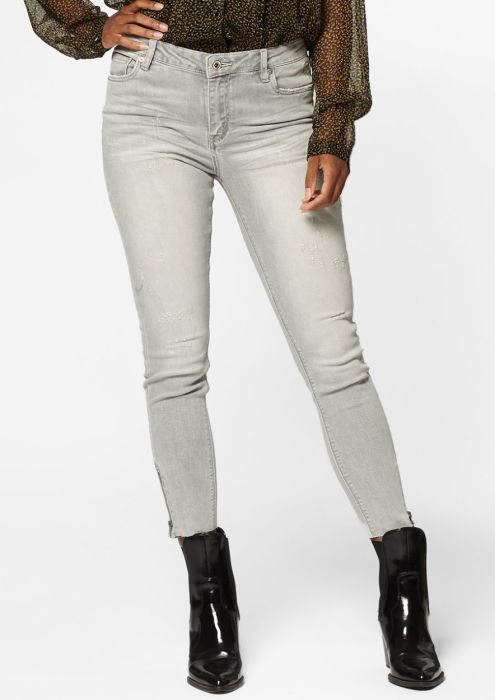Debbie Cropped Concrete Grey - Skinny Fit