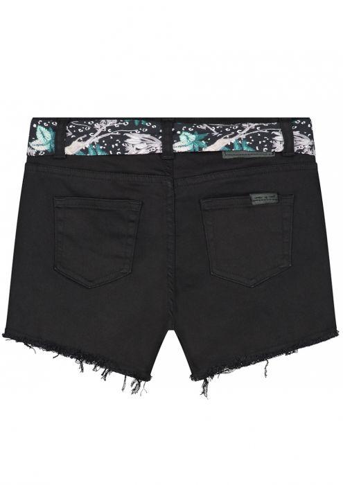Girls Britta Denim Short Vintage Black