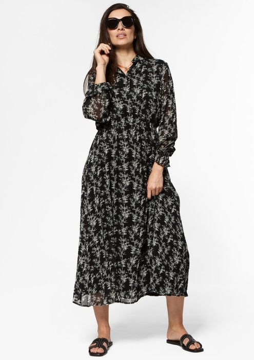 Ivana Dress Black bamboo
