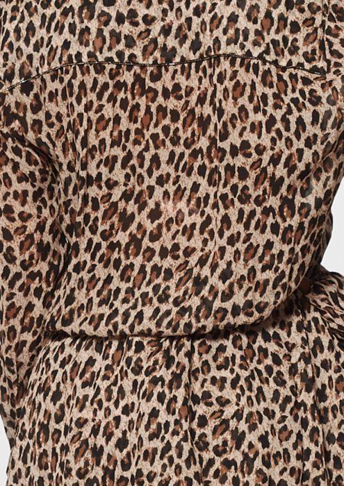 Gaby Longsleeve Jurk met Luipaardprint