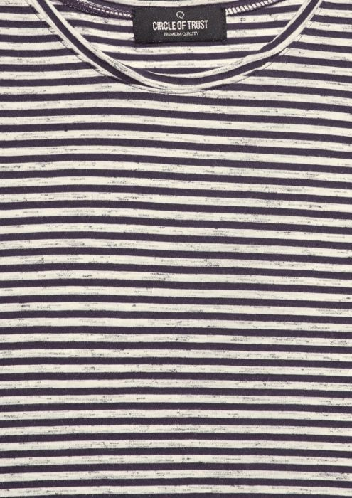 Boys Ace Tee Stripe Dark Fog