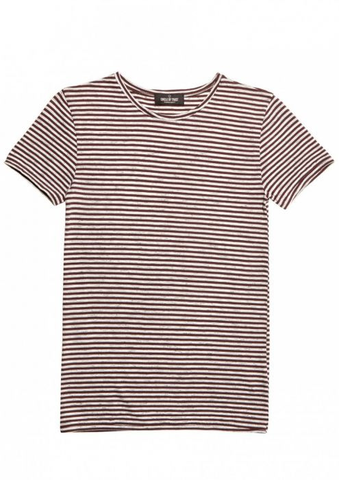 Boys Ace Tee Stripe Red Graphite