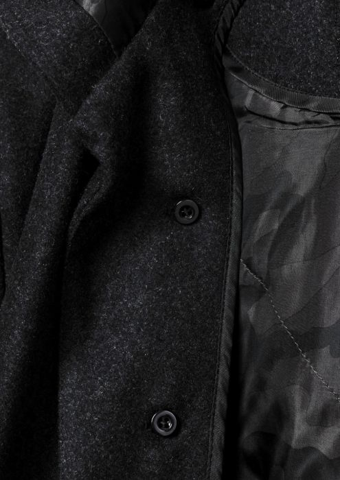 Kent Coat Charcoal Melange