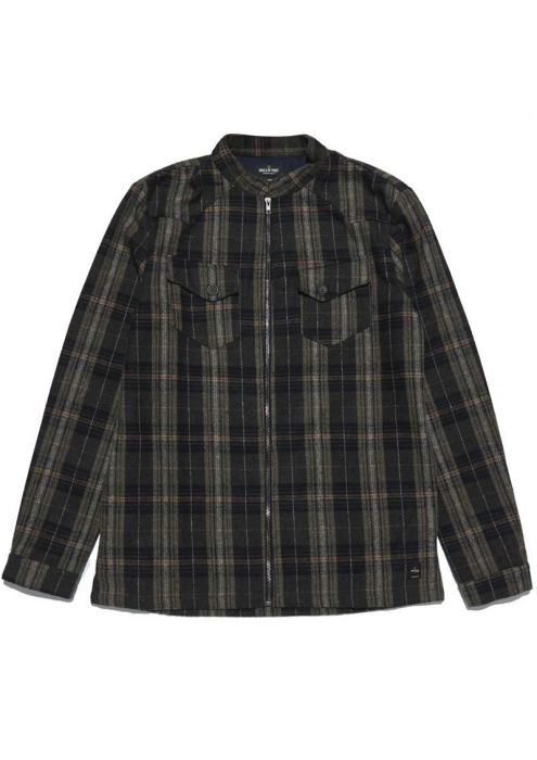 Kingston Zip Shirt Dark Moss
