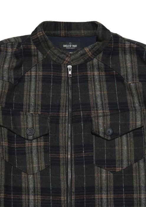 Kingston Zip Shirt Dark Moss