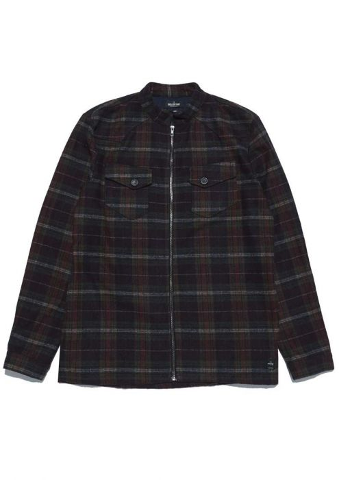 Kingston Zip Shirt Red Graphite