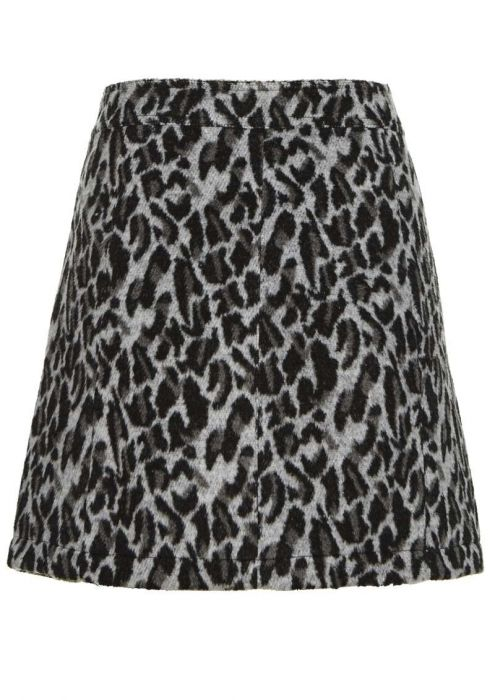 Feline Skirt Light Grey Melange
