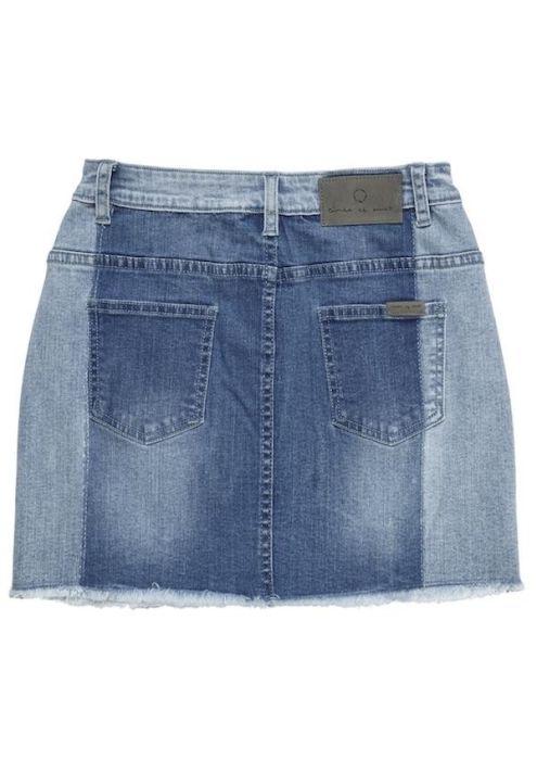 Girls Sage Skirt 3 Shades Blue
