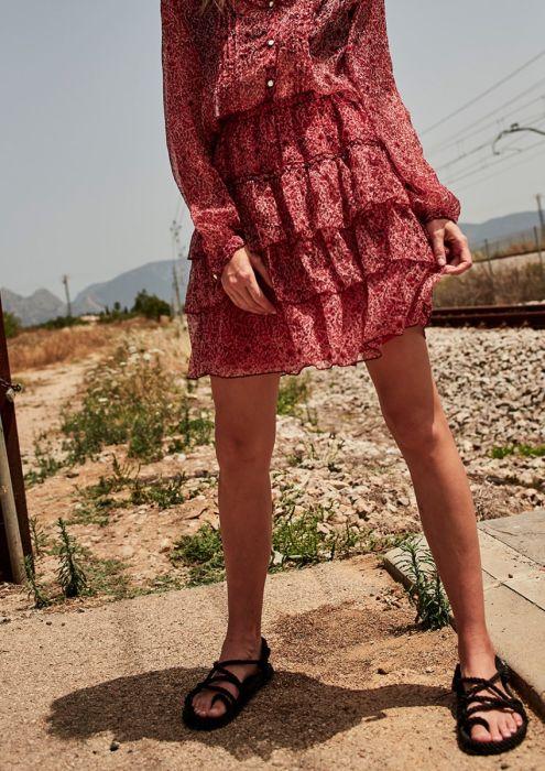 PORTIA Skirt Red Tree