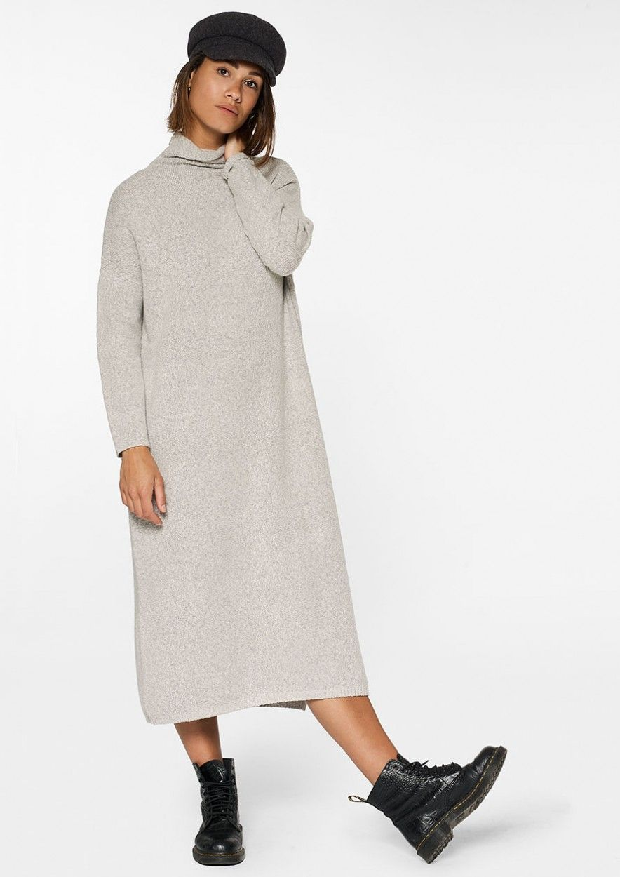 Maggie Knit Dress Grey Melange