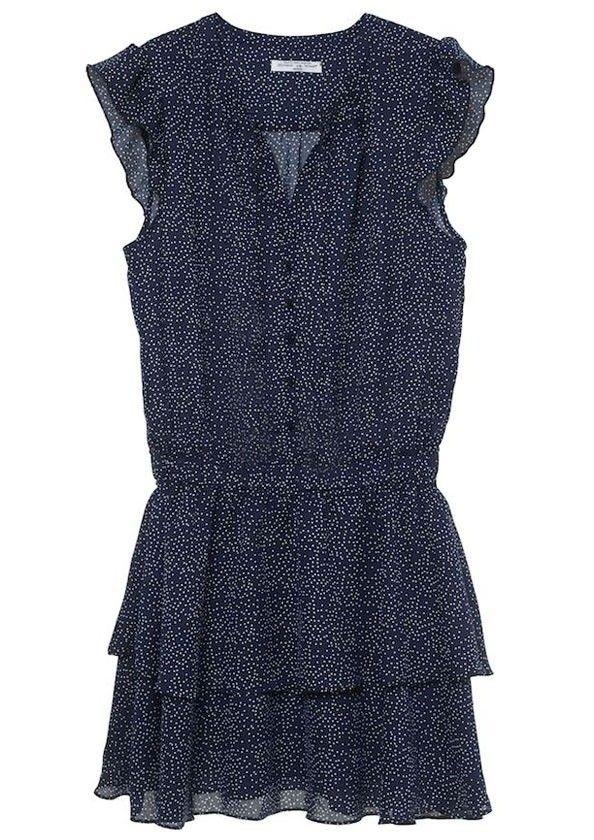 Gaby Dress Dots Navy