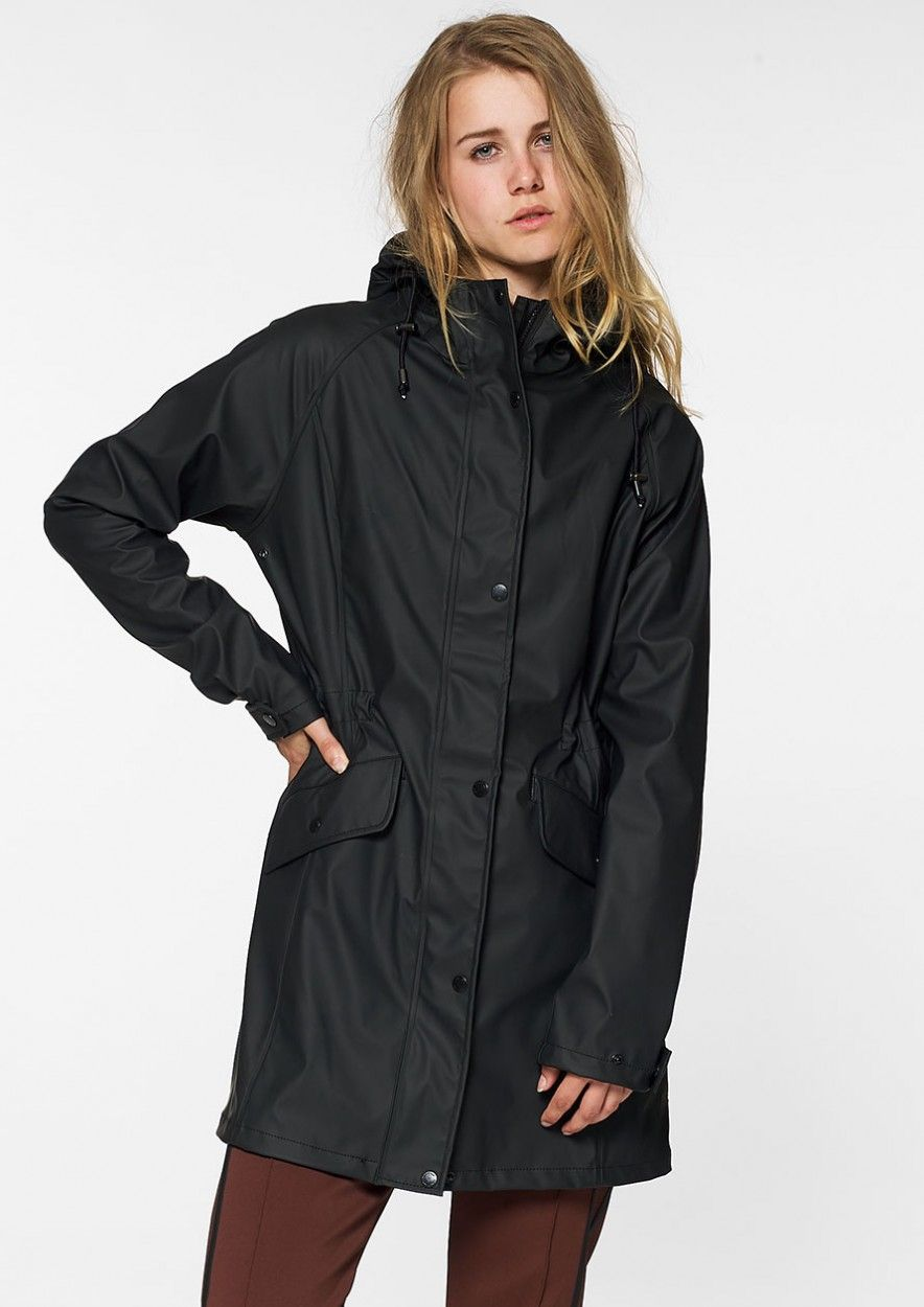 Blake Raincoat Jet Black