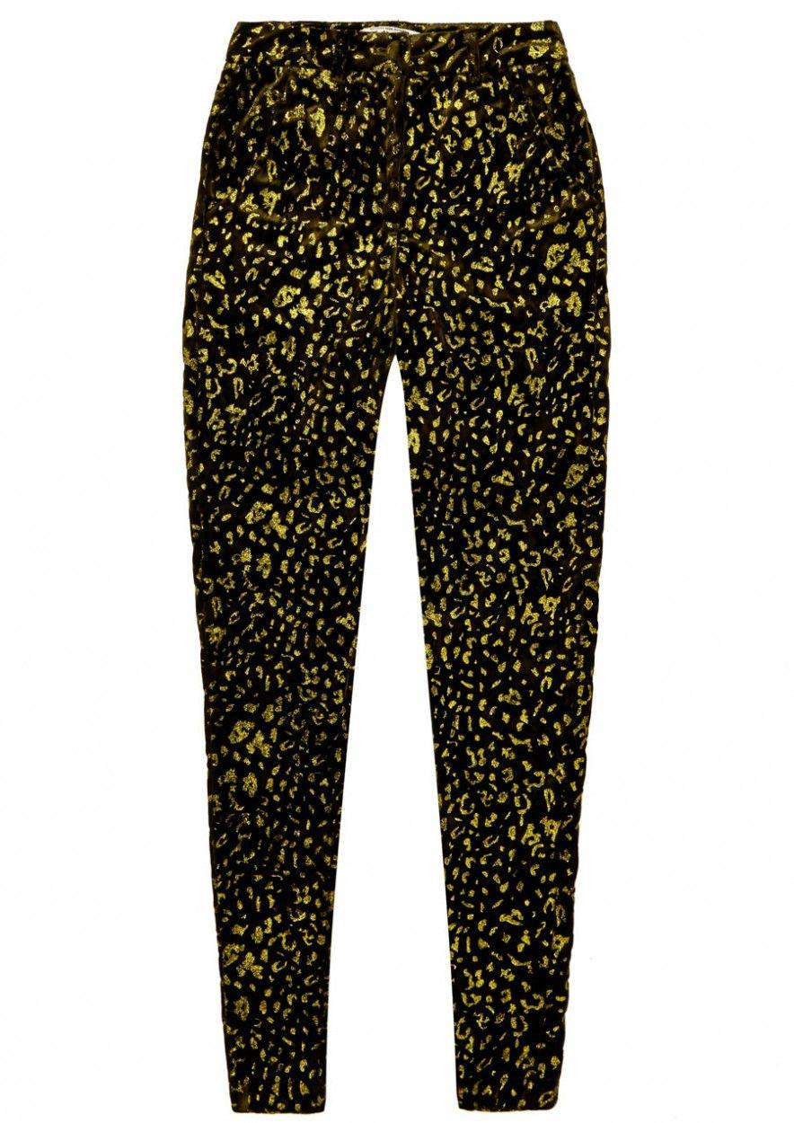 Girls Kae Velvet Pants Leopard