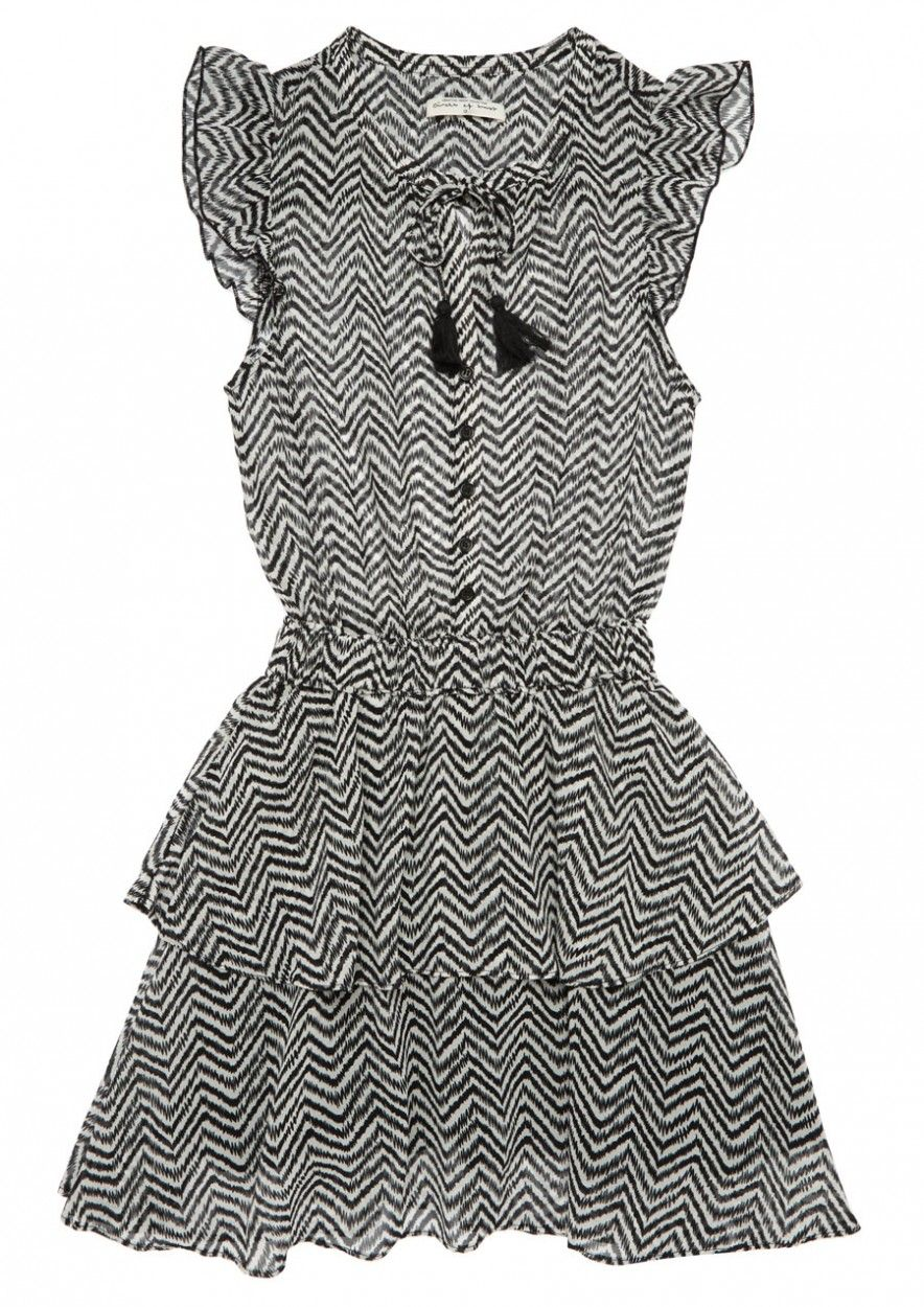 Girls Gaby Dress Crazy Zebra
