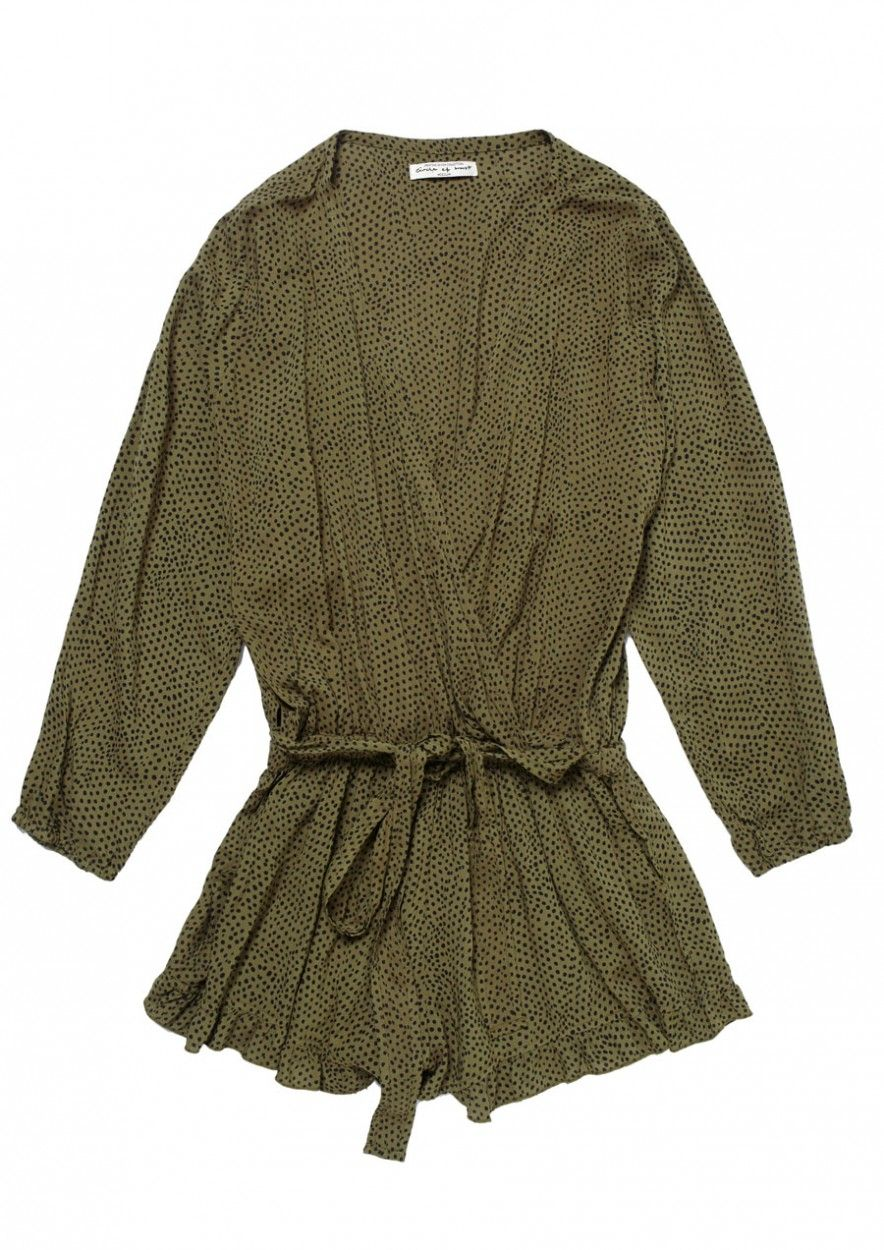 Girls Lou Lou Playsuit Dark Olive