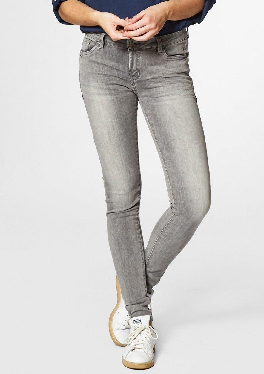 Poppy Washed Grey - Skinny Fit