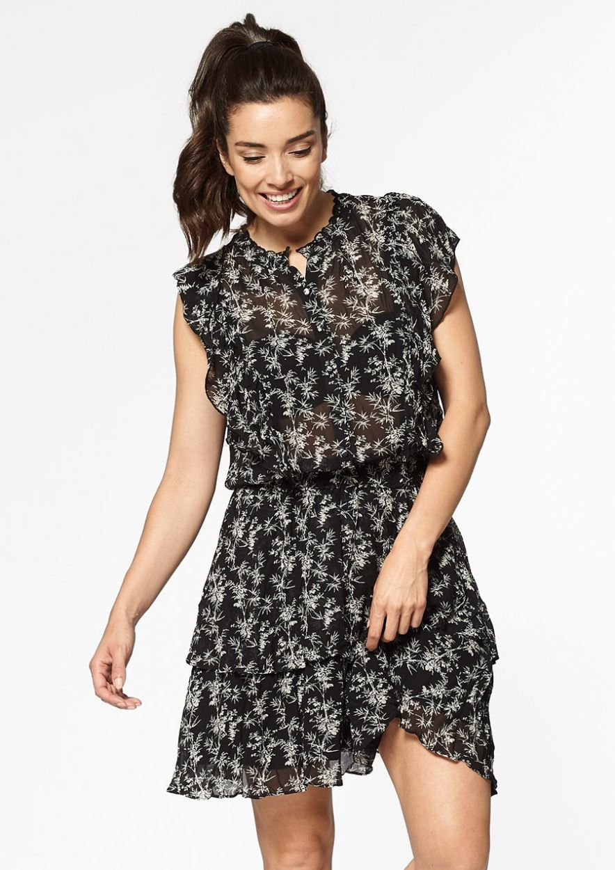 Pinny Dress Black Bamboo