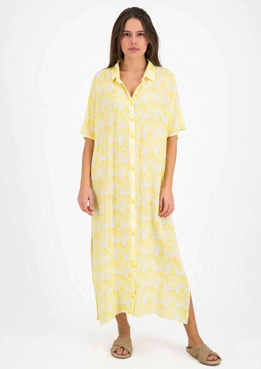 Senna  Beach Dress Yellow Brush