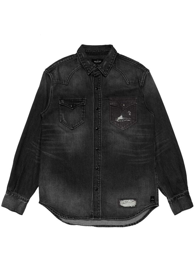 Dylan Denim Shirt Black Denim