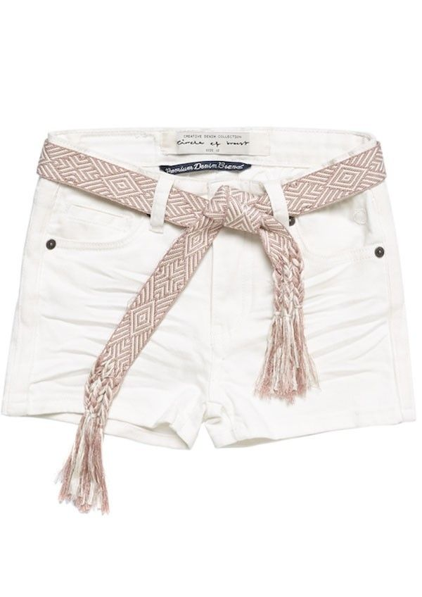 Girls Day Short Raw White
