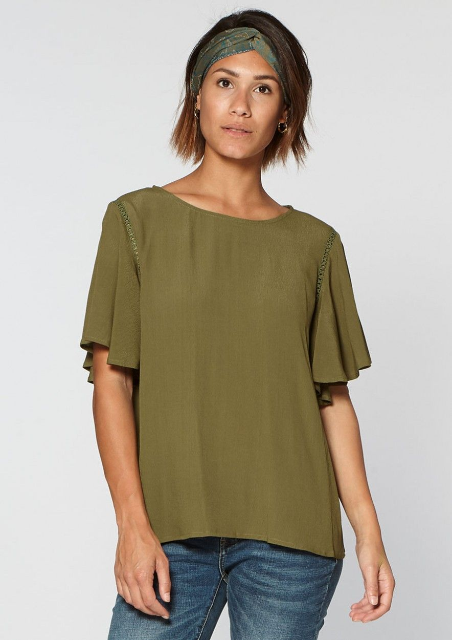 Alba Top Dark olive