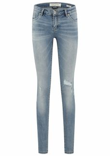 Poppy Blue Weather - Mid Rise Skinny Fit