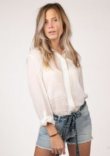 Crystal Blouse Cloud White