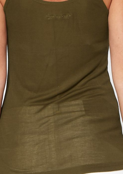 Jenn Strap Top Dark Olive