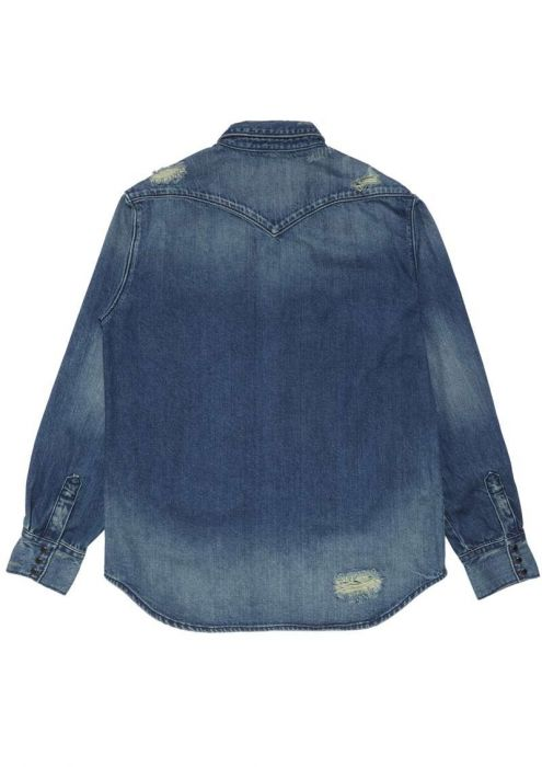 BOYS DYLAN DNM SHIRT BLUE DENIM