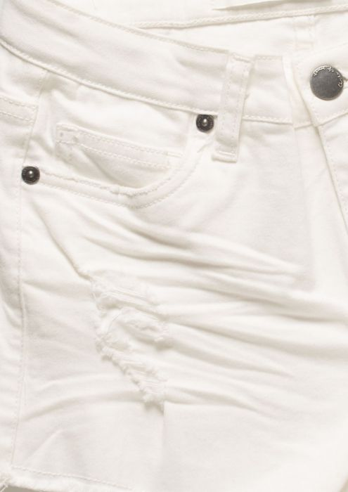 Girls Britta Short White Second Hand Wash