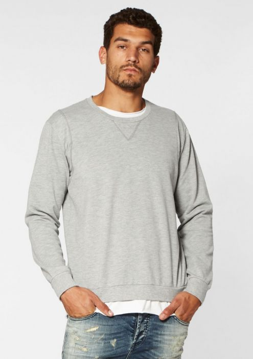 Simon Sweat Light Grey Melange