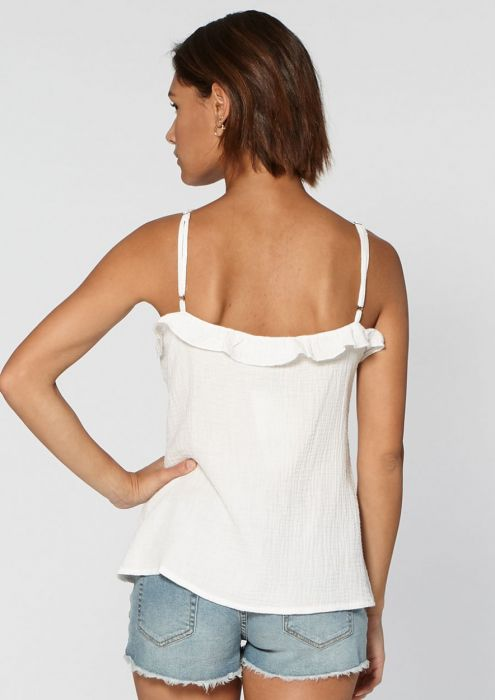 Lot Strap Top White Bleached