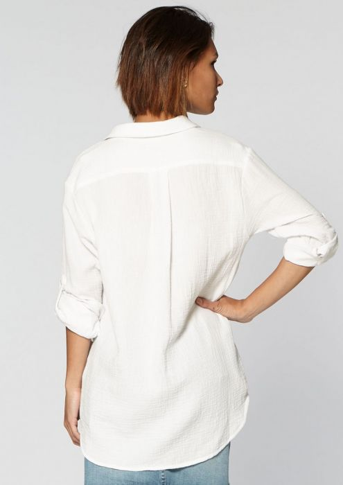 Megan Blouse White Bleached