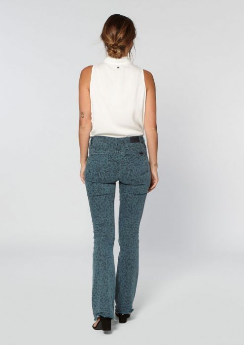 Trix Flared Pants Abstract Leopard