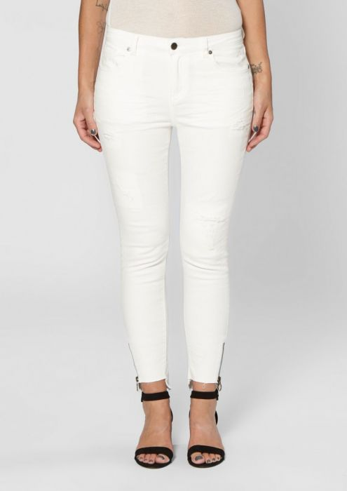 Debbie Cropped White Second Hand Wash