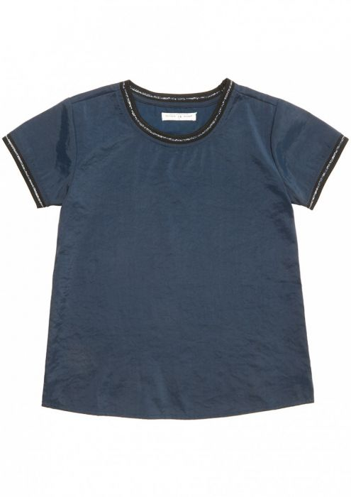 Girls Nicole Shirt Donkerblauw