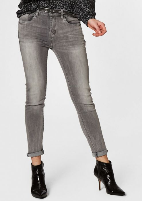 Cooper Washed Grey - Skinny Boyfriend Fit