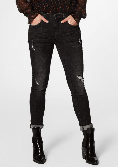 Cooper Black Oil - Skinny Boyfriend Fit