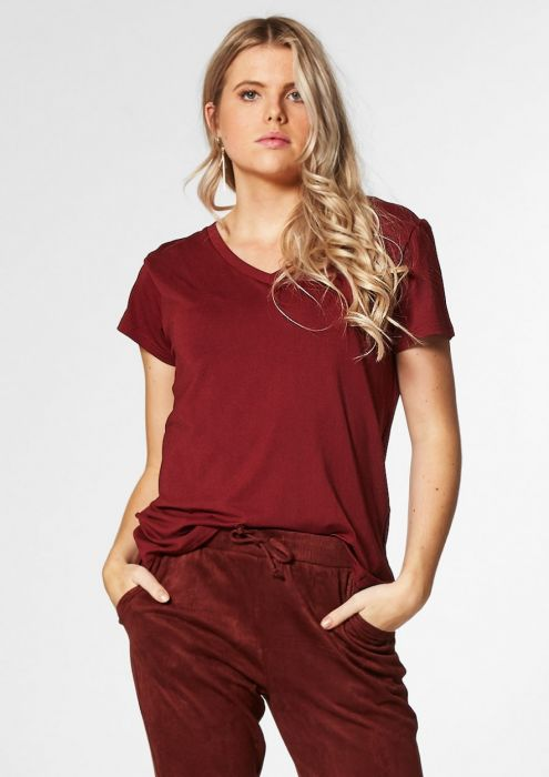 Monica Shirt Donkerrood