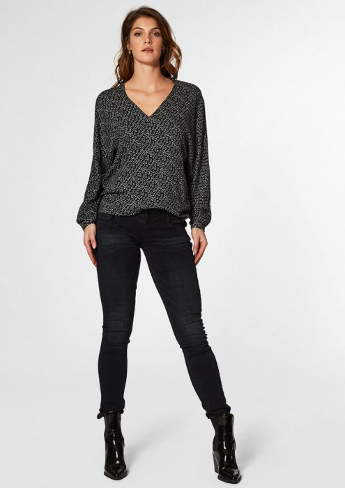 Anna blouse Oval Dots