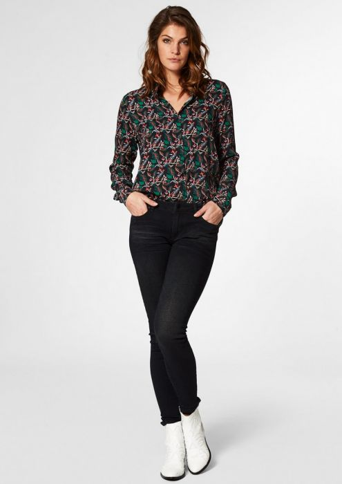 LISANNE Blouse Botanical Night