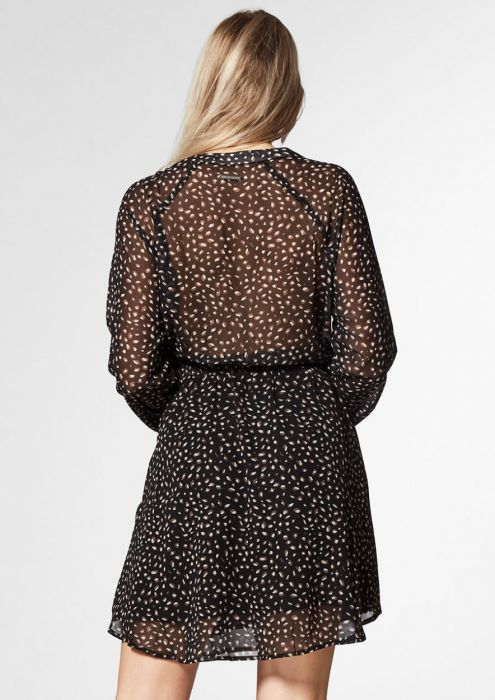 KIRA DRESS Leopard hidden sand