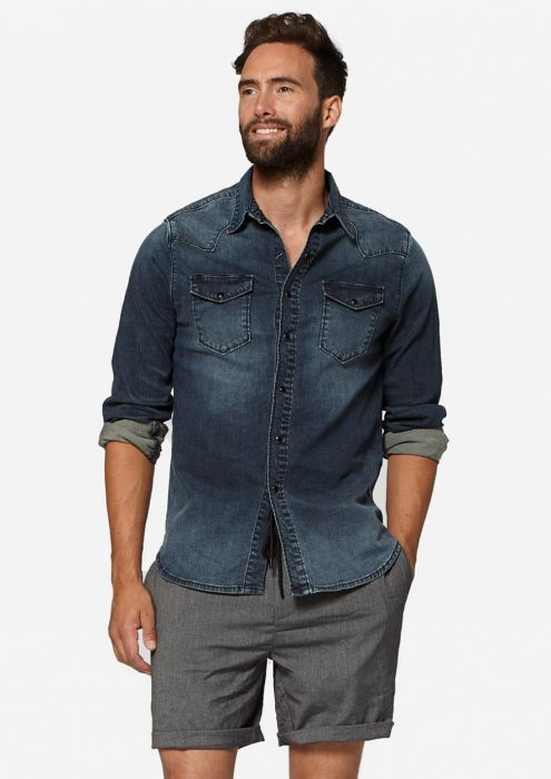 Daen Denim Shirt Framed Blue