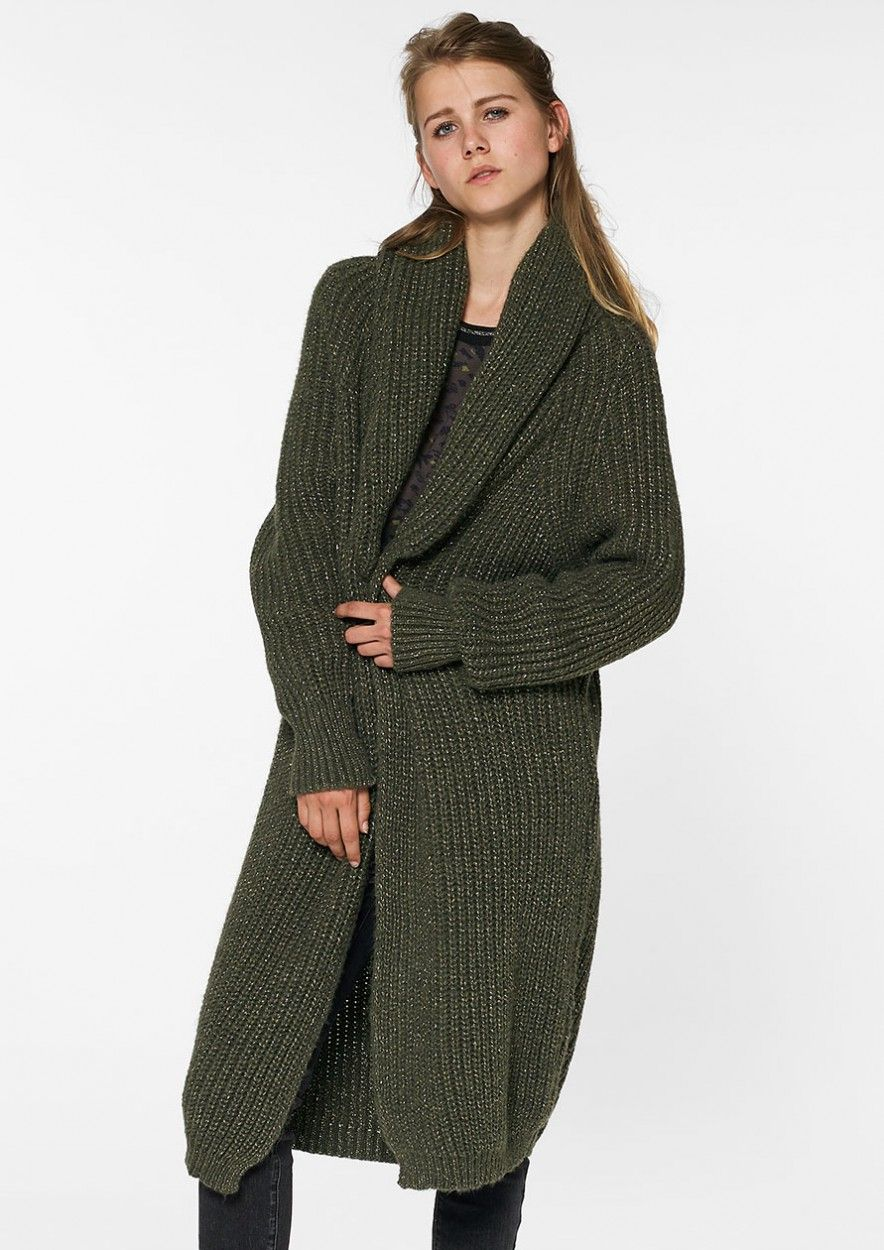 Hoxton Cardigan Dark Army