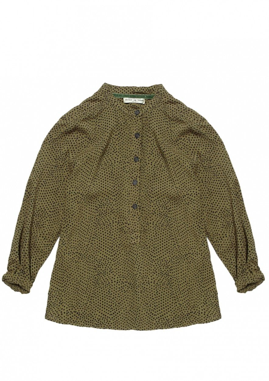 Girls Palma Blouse Dark olive