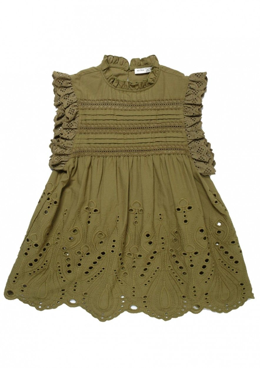 Girls Elli Top Dark Olive