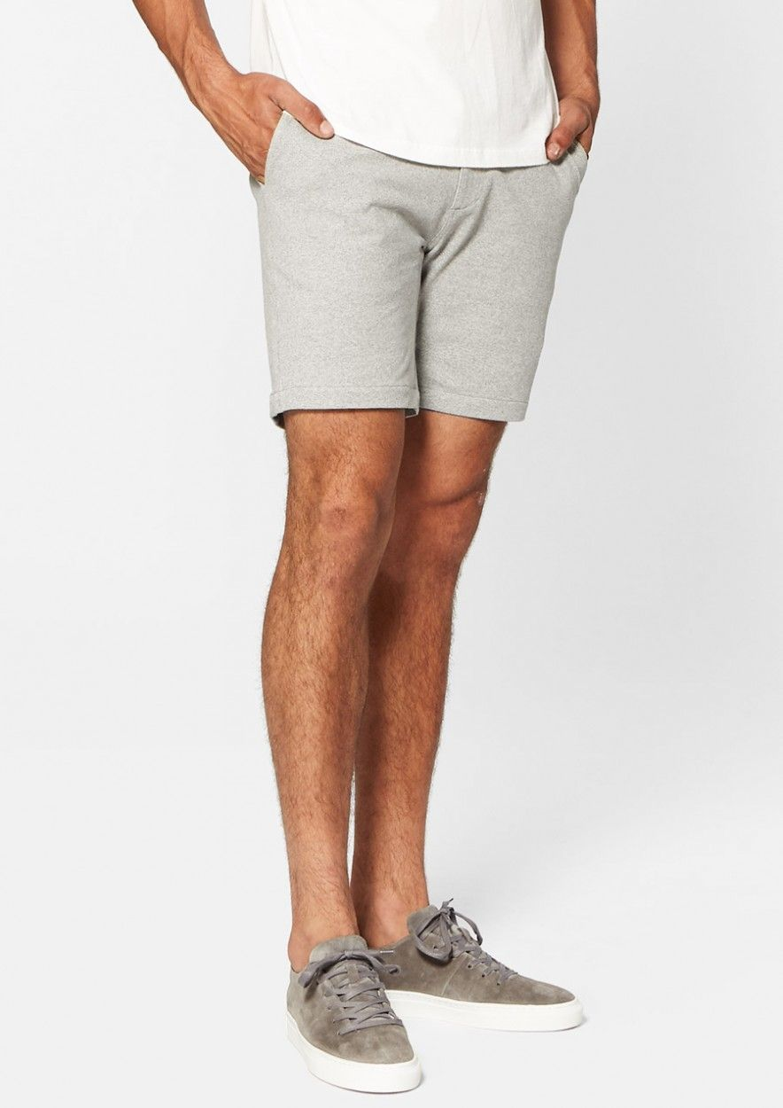 Montez Short Light Grey Melange