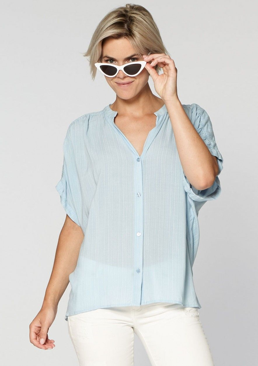 Leah Blouse Stylish Blue