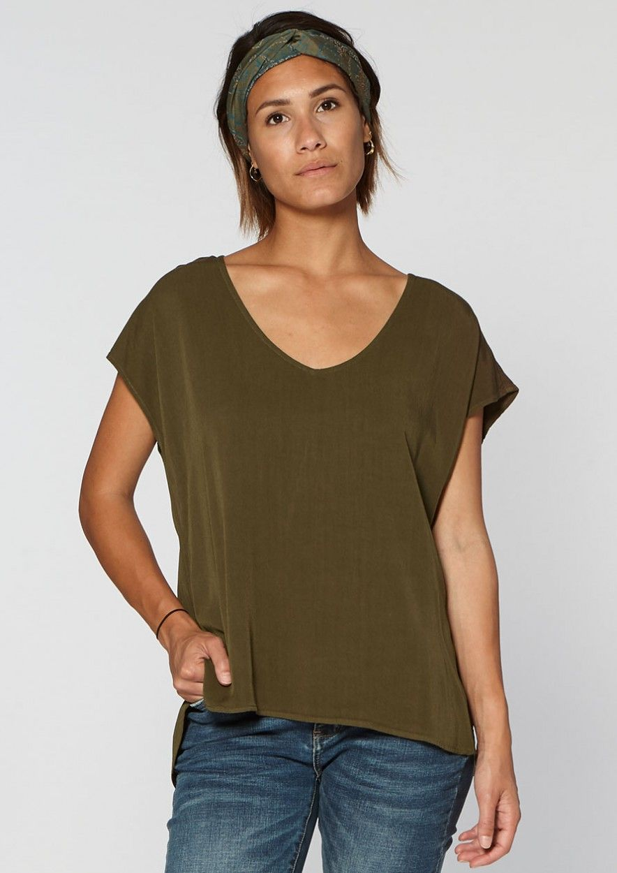Dena Top Dark Olive